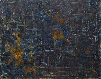 NEBULOASĂ - 120/100cm pictură acrilic pe pânză ©Florin Constantinescu