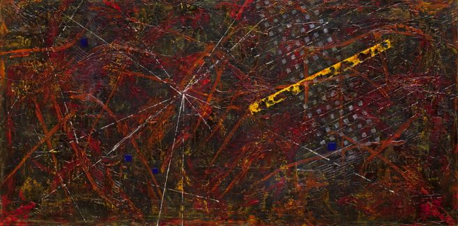 PASARI DE FOC - 200/100cm pictură acrilic/pânză © Florin Constantinescu