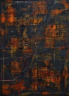 TENMOKU - 70/100cm pictură acrilic pe pânză ©Florin Constantinescu