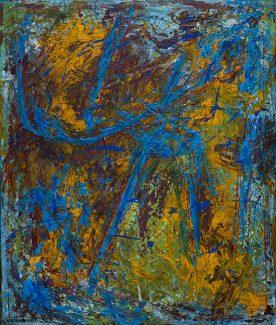 TENSIUNI - 100/120cm pictură acrilic pe pânză © Florin Constantinescu